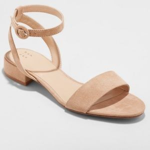 Women's Taupe Ankle Strap Sandal 7.5M